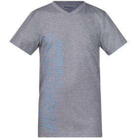 Bergans Youth Tee Grey Melange/Glacier/Steel Blue